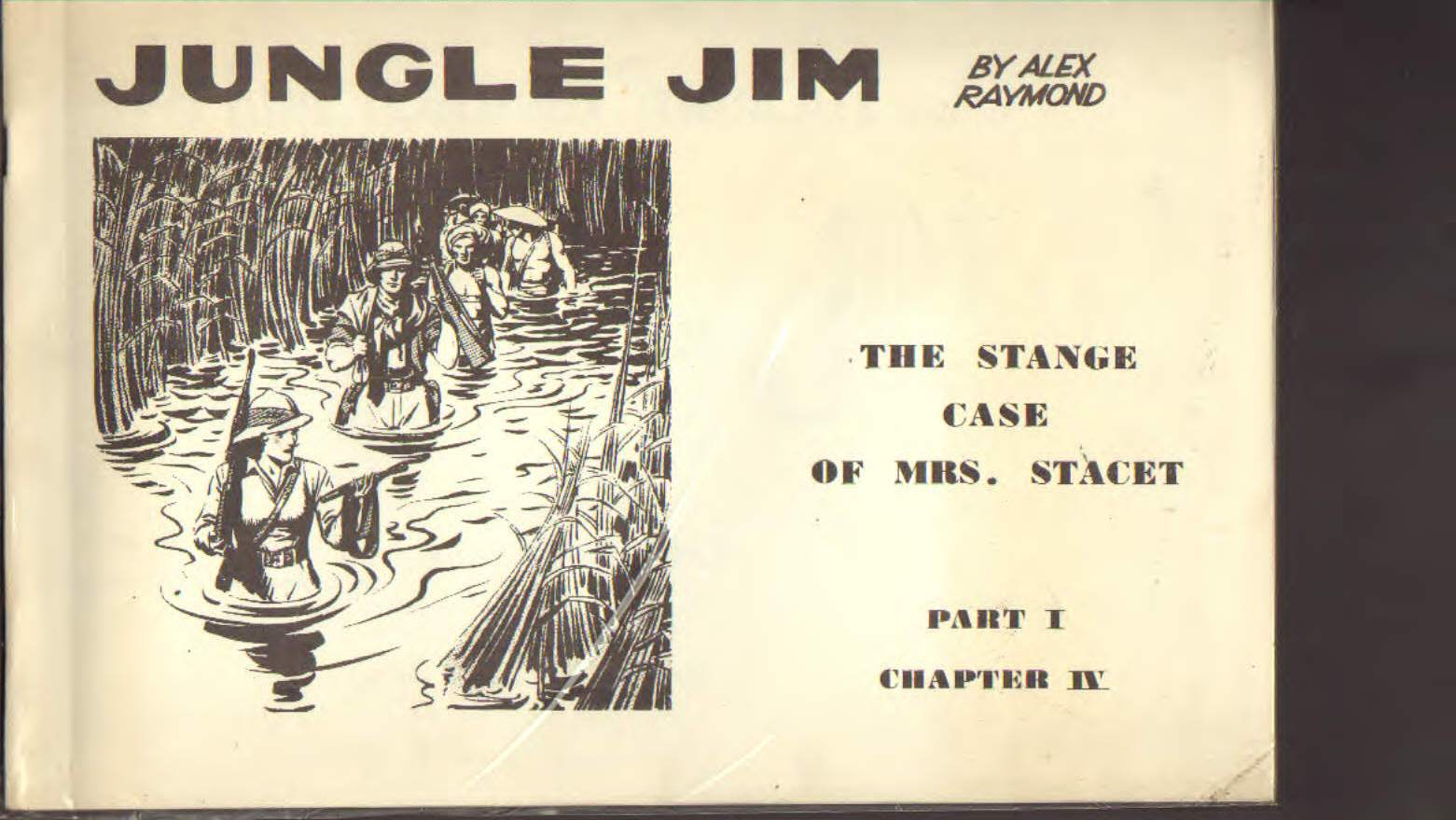 Jungle Jim by Alex Raymond the stange case of mrs Stacet