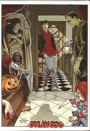 Set 4 Cartoline Dylan Dog - Varchi Comics 2014