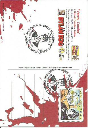 Set 5 Cartoline Dylan Dog - Varchi Comics 2014 con annullo