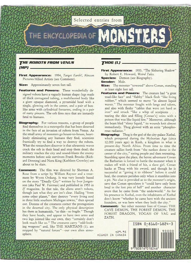 The Encyclopedia of Monsters - Facts on File