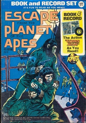 Book and records Escape from the Planet of the apes con 45 giri