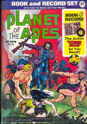 Book and records Planet of the apes con 45 giri