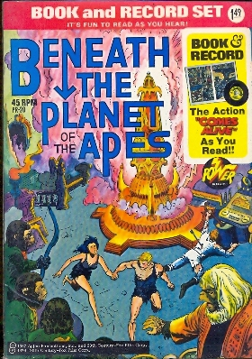 Book and records Beneath the planet of the apes con 45 giri