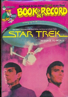 Book and records Star Trek original passage to moauv con 45 giri