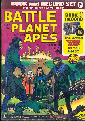 Book and records Battle for the planet of the apes con 45 giri