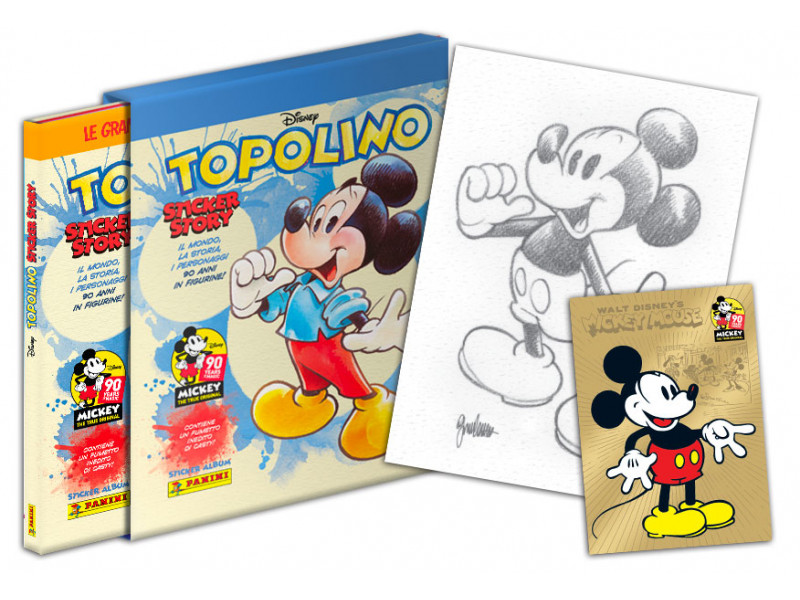Topolino 90 Sticker Story Golden Years Cofanetto + 3 Bustine + 1